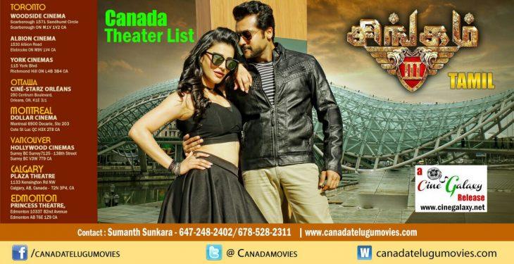 SINGAM3 (Tamil) – Canada Theaters